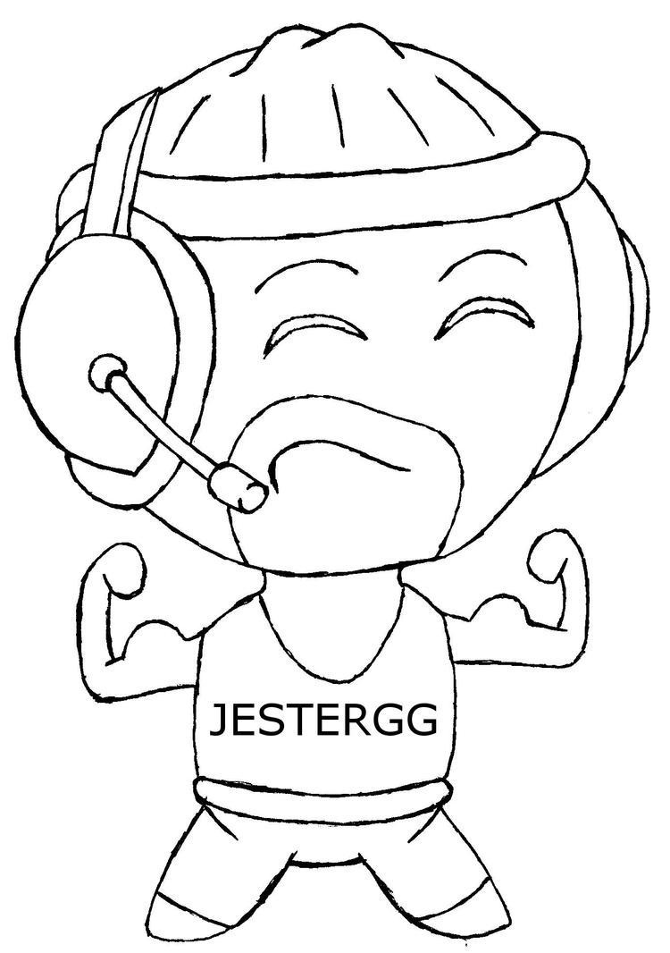JesterGG bw by buddythelee