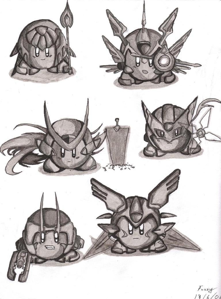 Megaman Kirby Zero by fuzzalot