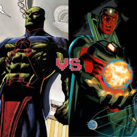 Death Battle idea: Manhunter vs the Vision by ItemShoplifter
