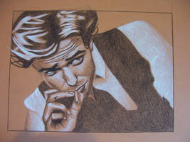 Robert Pattinson Charcoal