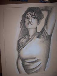Sasha Grey Charcoal Portrait