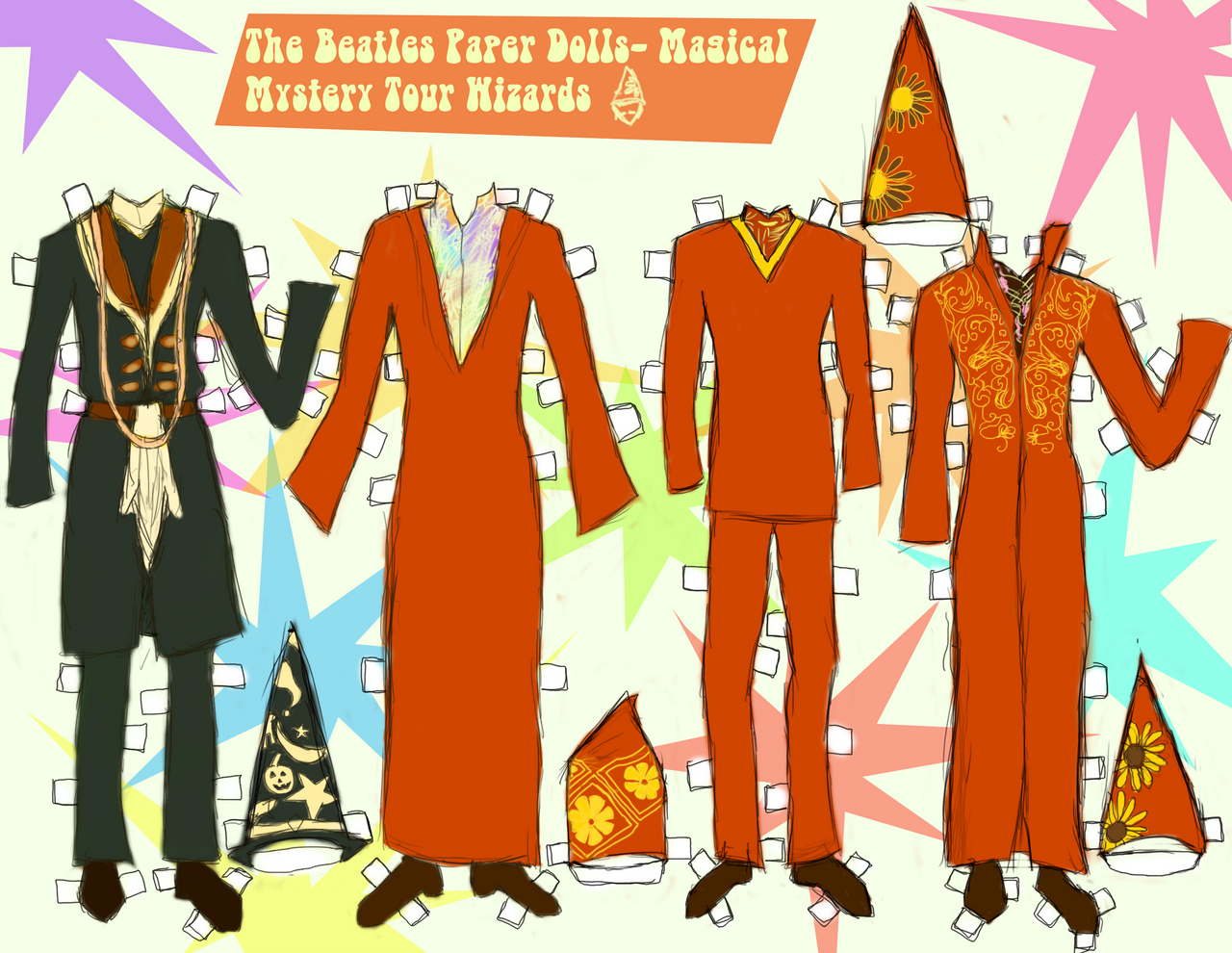 MAGICAL MYSTERY TOUR WIZARD PAPER DOLL CLOTHES! by 89000007ANL on ...