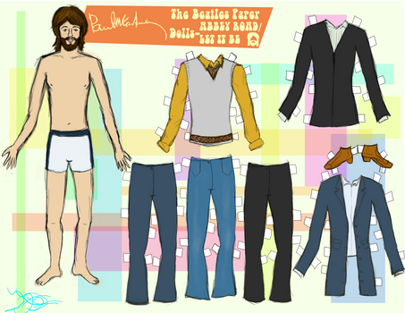 PAUL MCCARTNEY PAPER DOLL 4