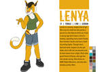 Lenya character sheet by Kyros-the-Wolf