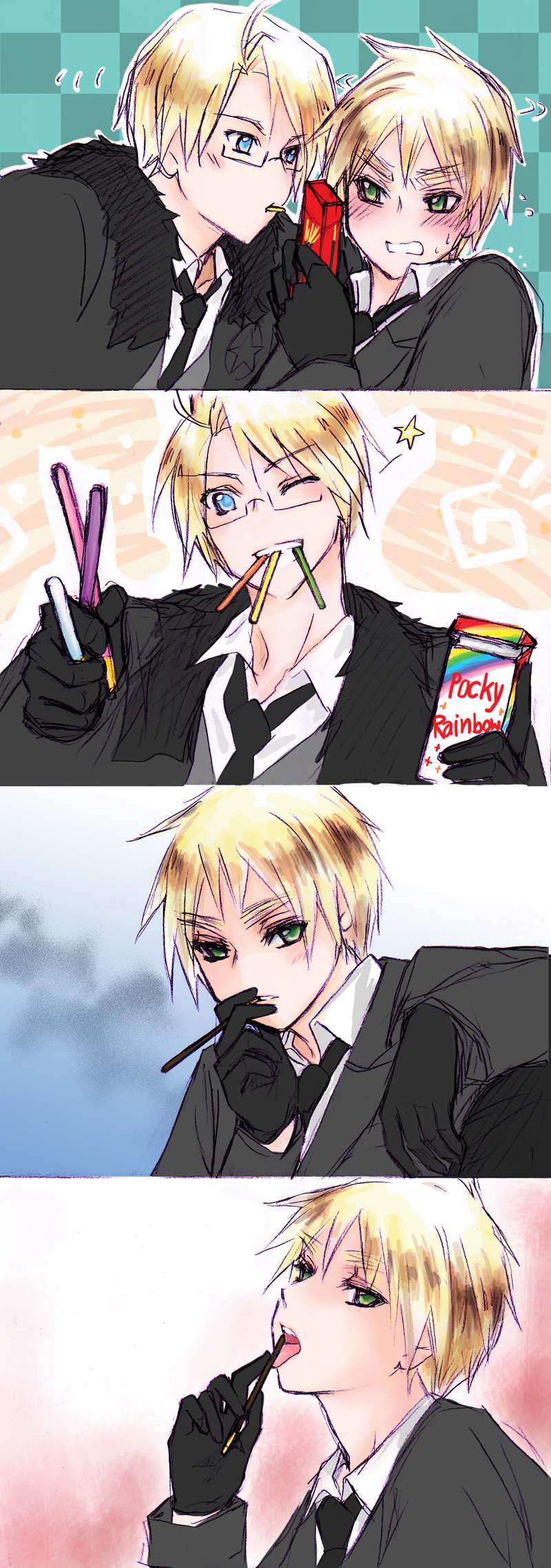 aph BA pocky day by mikitaka