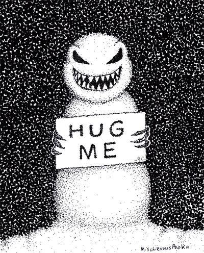 Hug Me Snowman by MischievousPooka