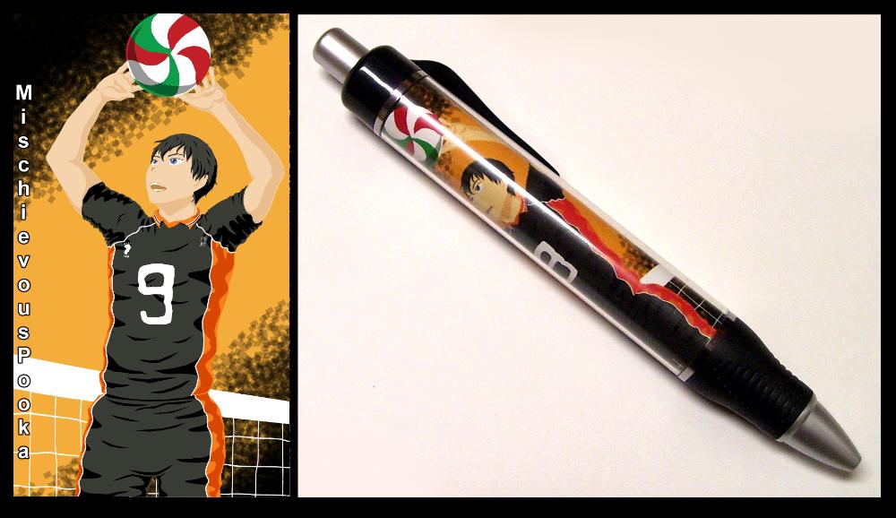Tobio Kageyama Pen by MischievousPooka