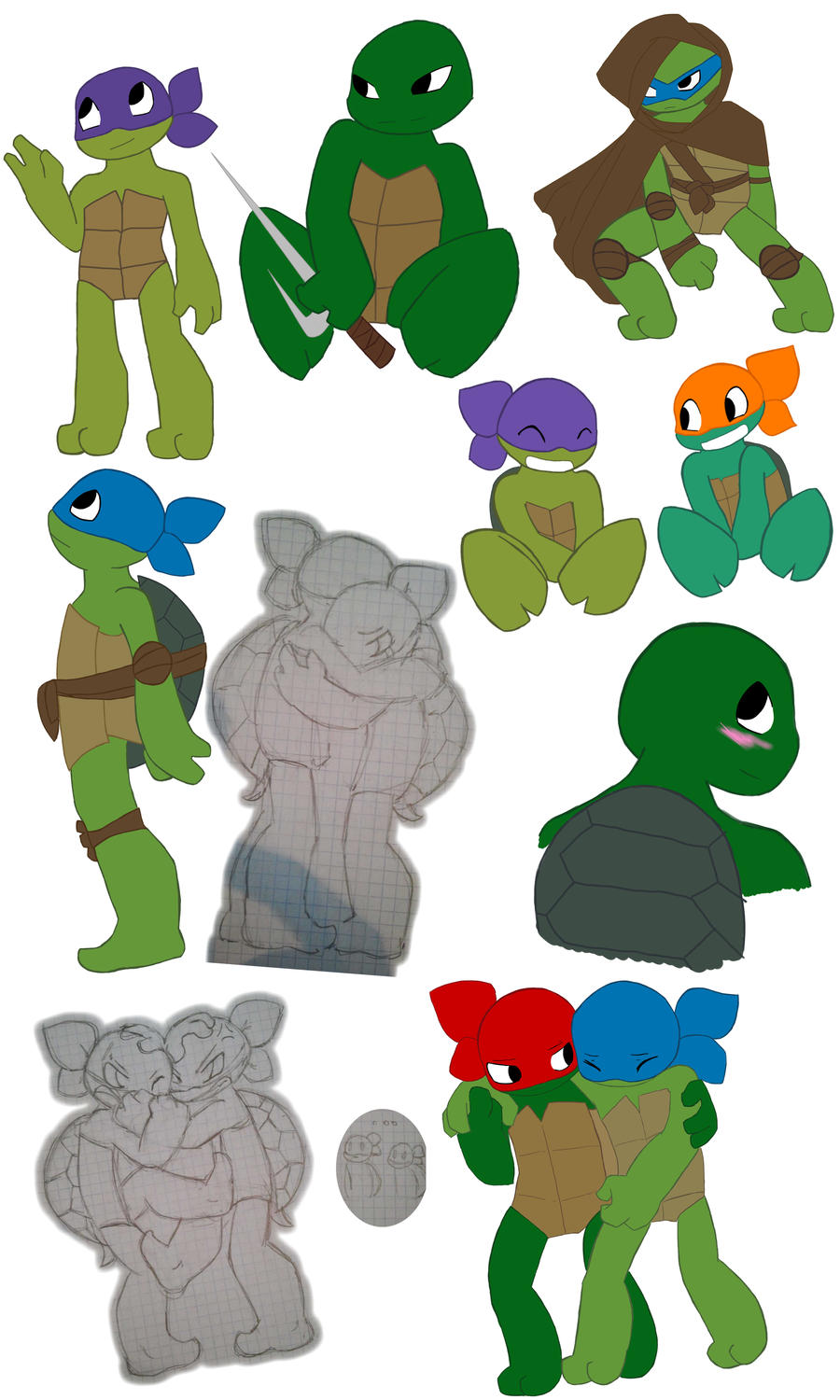 Turtles tots sketch by LittleChaCha