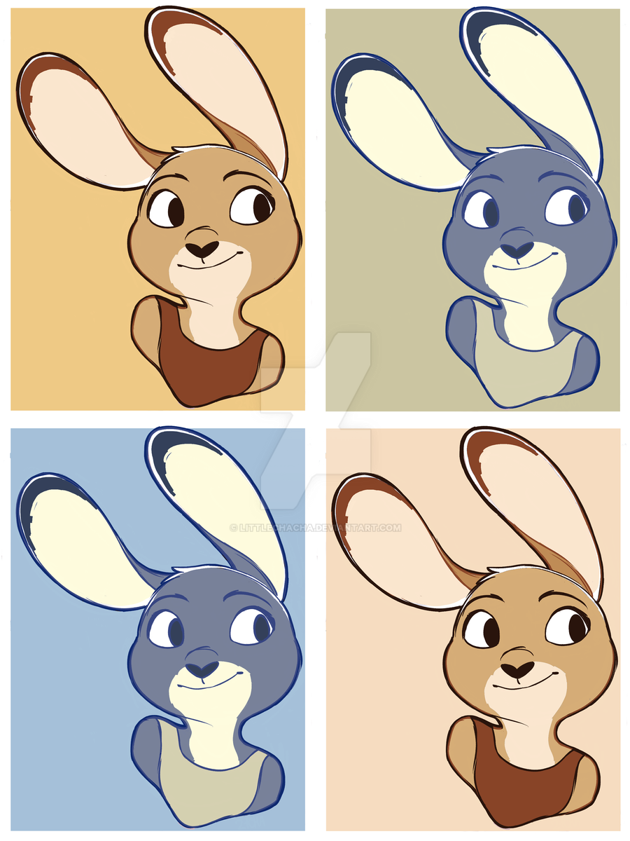 Judy in 4 colors by LittleChaCha