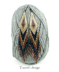 Golden Shadow - ethnic extra long earrings