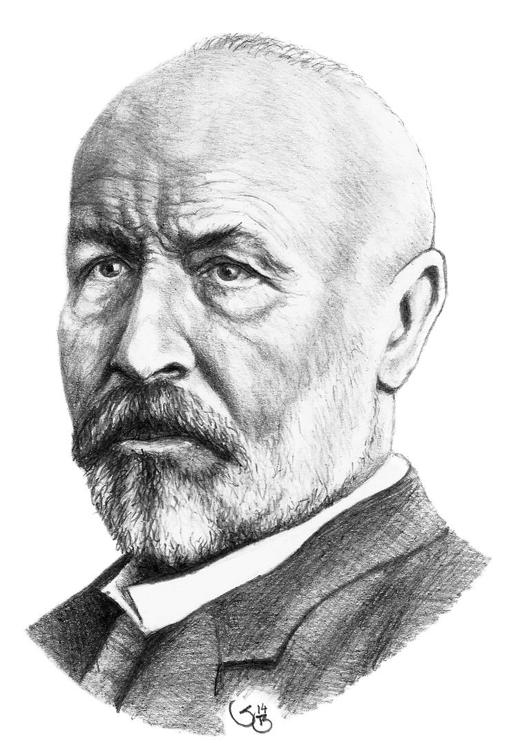 Georg Cantor (drawn with left hand) by subhankar-biswas