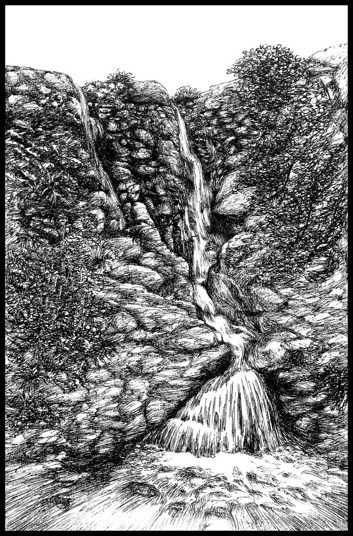 Mountain cascade by subhankar-biswas