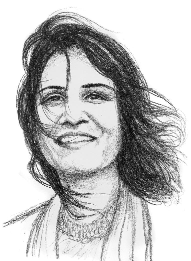 Munira - laughing girl by subhankar-biswas