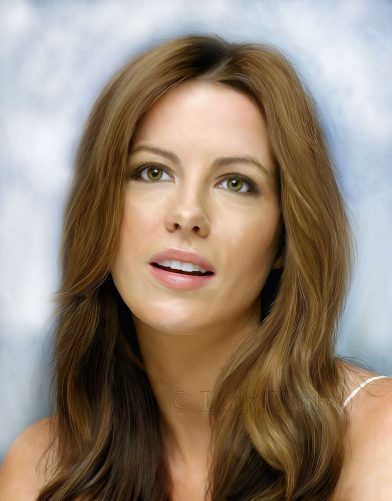 Kate Beckinsale - Portrait by AlienFodder