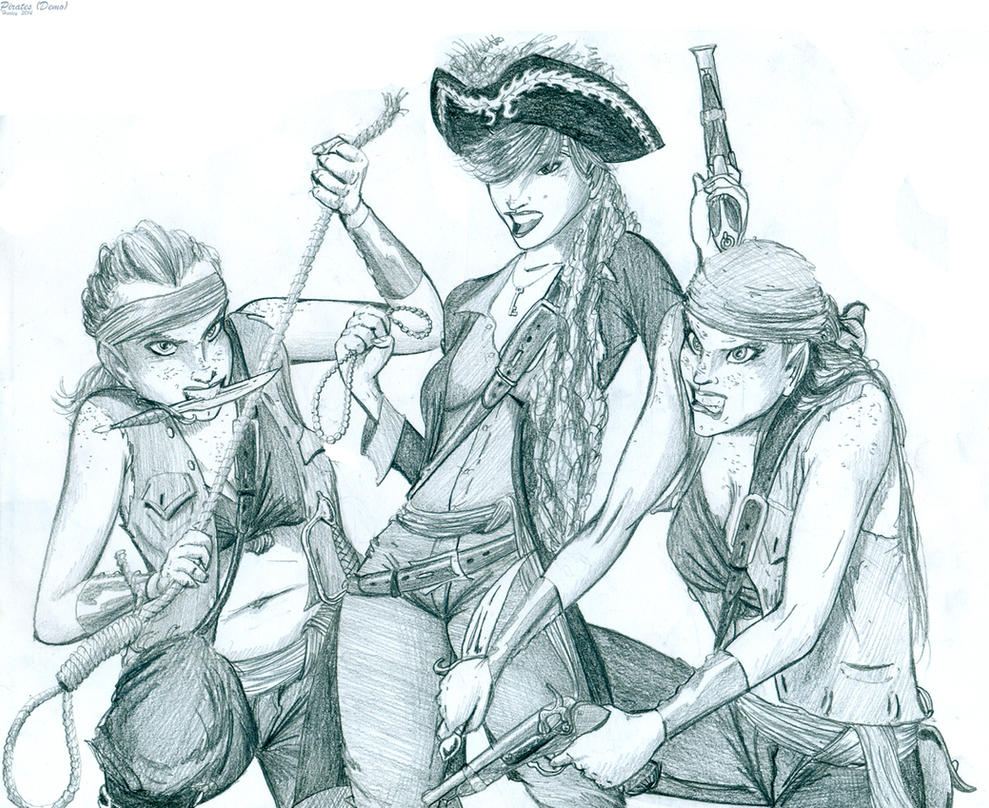 Pirate Demo Sketch by Harley-1979