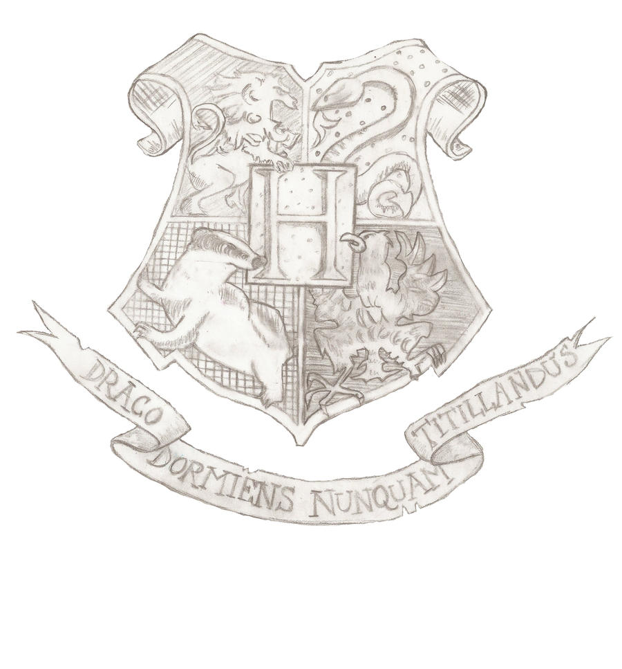 Hogwarts Crest Coloring Pages The Hogwarts Crest by