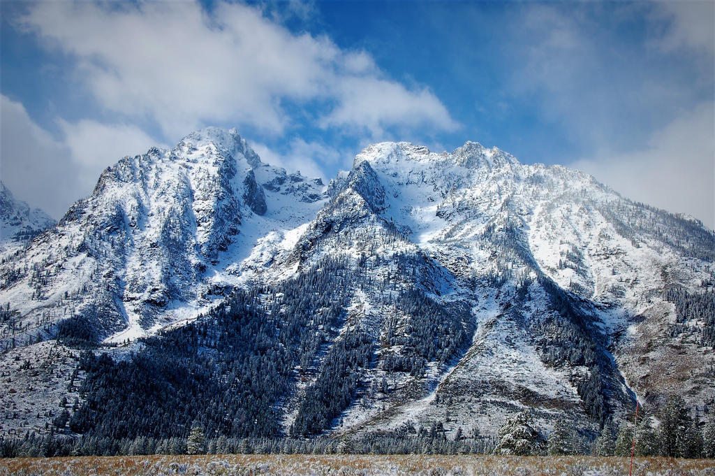 Snow Covered Grand Tetons by JeFr316
