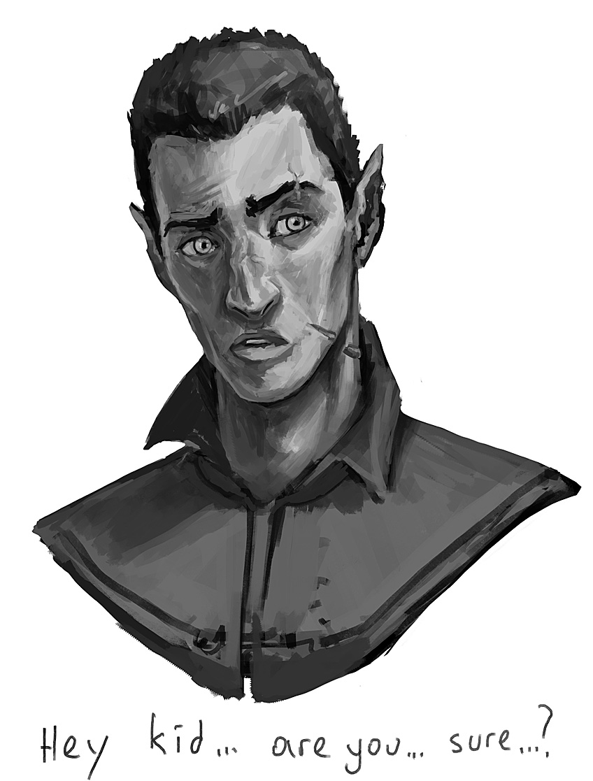 Rovran Bust Sketch