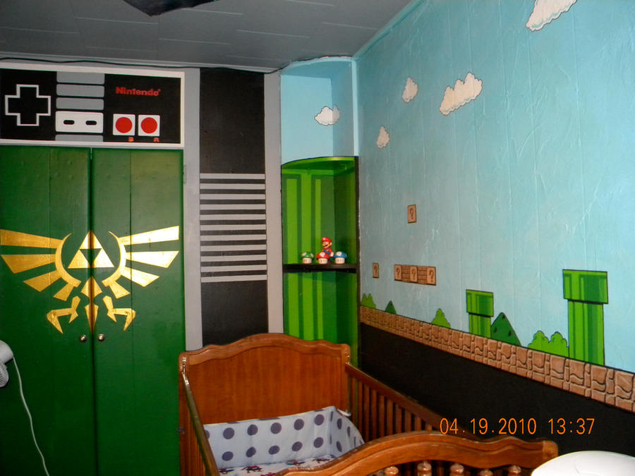 Nintendo baby room by therealsurge on deviantart for Baby rooms decoration games