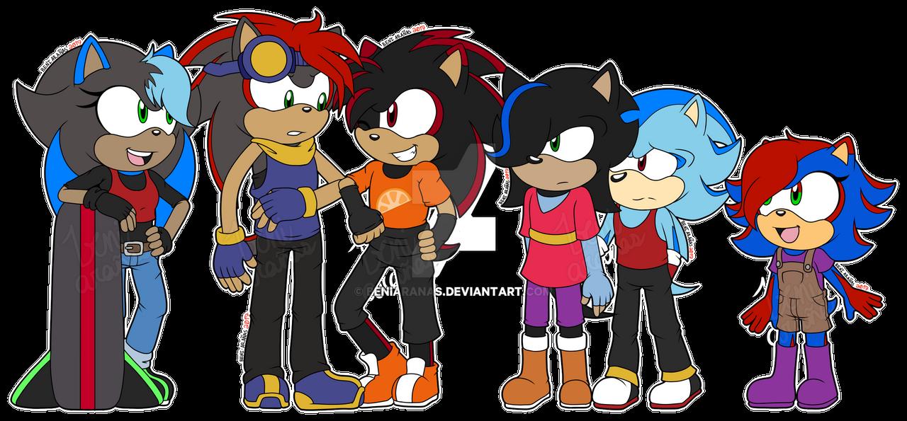 Sonadow Family By Buttermayojamz Dibujos Para Colorear