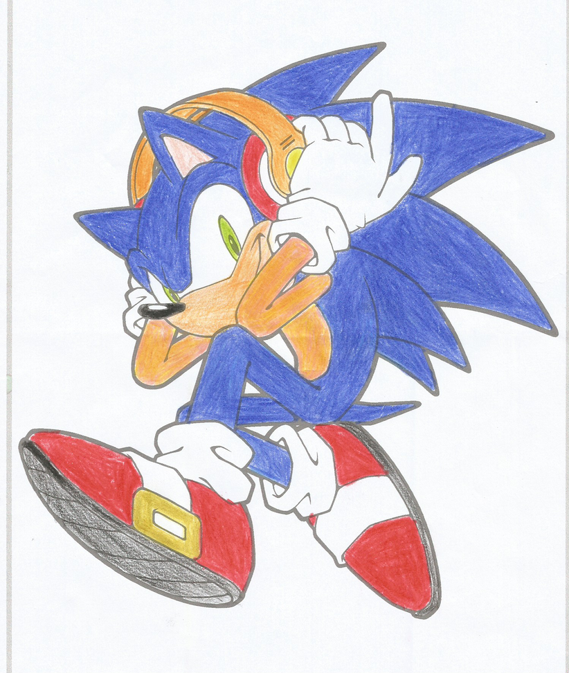 Sonic Wearing Headphones By