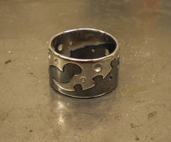Industribal Puzzle Ring by WeirdWondrous