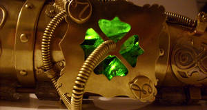 Steampunk armpiece detail