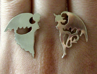 Saint - Sinner Earrings by fairyfrog