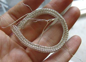 'viking knit' experiment 1