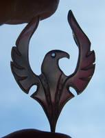 Falcon pendant silouette by fairyfrog