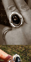 Onyx hidden signet ring