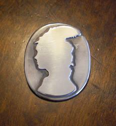 Silver silhouette cameo
