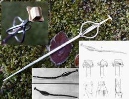 Klinta staff miniature hairpin