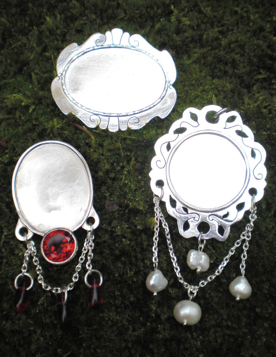 Miniature jewel frames by fairyfrog
