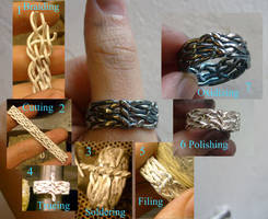 Braided ring of Eclive by WeirdWondrous