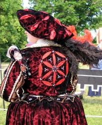 Cranach inspired velvet gown by fairyfrog