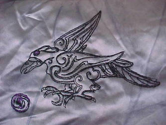 Raven embroidery
