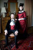 Victorian red wedding by fairyfrog