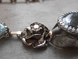 Diamond set gold rose by fairyfrog
