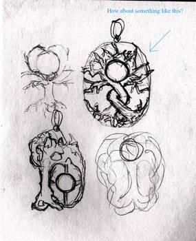 Moonstone tree sketch