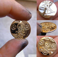 Pirate gold coin