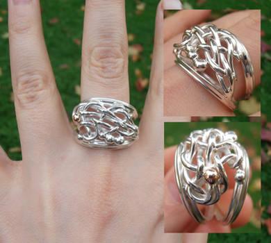 Spagetti Scraps silver ring improvisation by WeirdWondrous