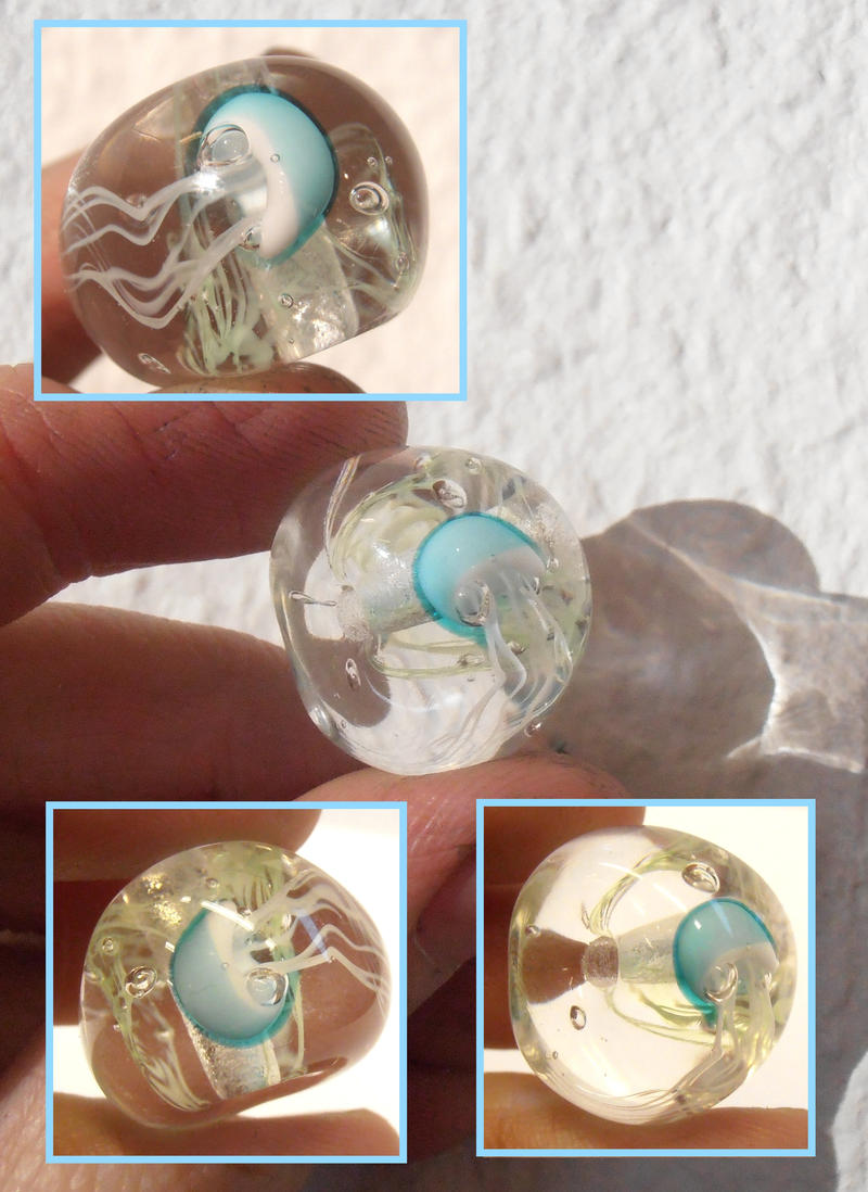 First Jellyfish bead by fairyfrog