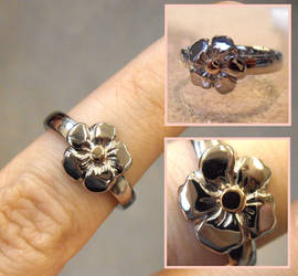Forget-Me-Not gold ring