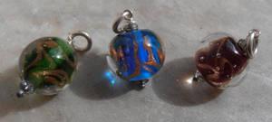Summer storm bead pendant trio by fairyfrog
