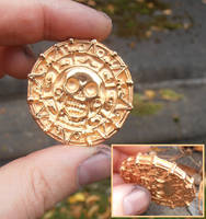 Pirates two-sided gilt sterling silver coin by WeirdWondrous