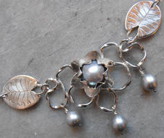 Water Lily necklace by WeirdWondrous