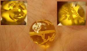 Intaglio bead with roses by fairyfrog