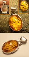 Valentime - intaglio pendant for Valentines