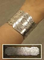 STFU silver bracer. by fairyfrog